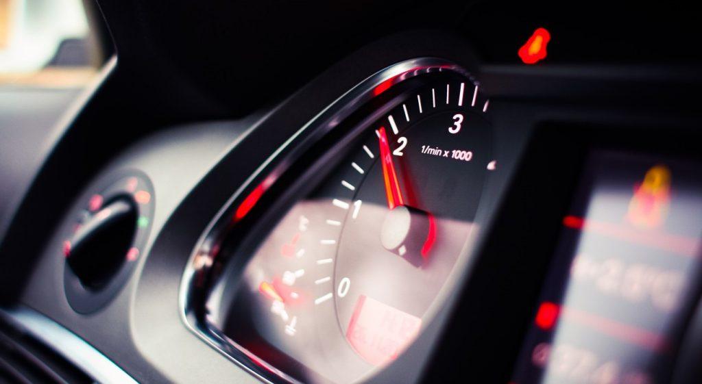Nøgletal symboliseret af speedomenter