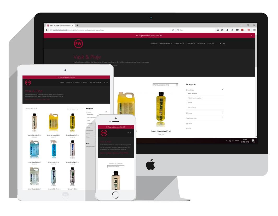 Salg af funktionsdygtig webshop med flot design