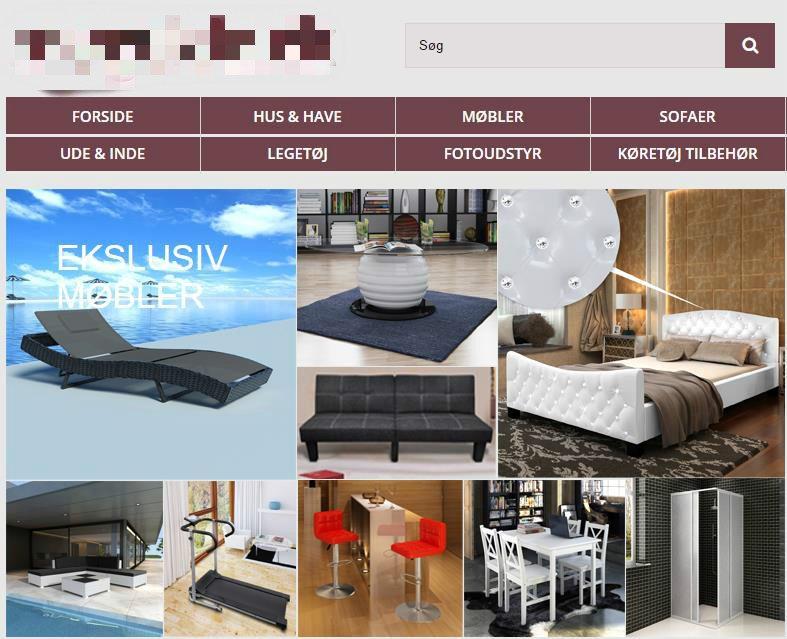 Udvalgsrig webshop med salg af produkter blandt kategorier som Møbler, have, dyreartikler ...