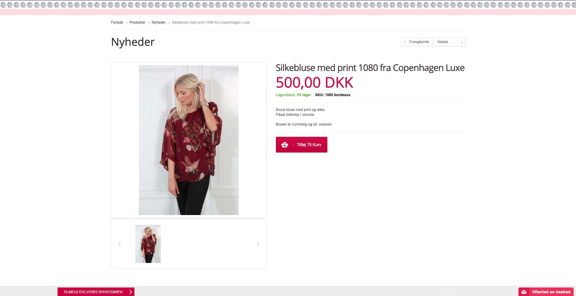 a262a7cf25ec Webshop til salg med glimmer og glamour tøj - Saxis Virksomhedsbørs