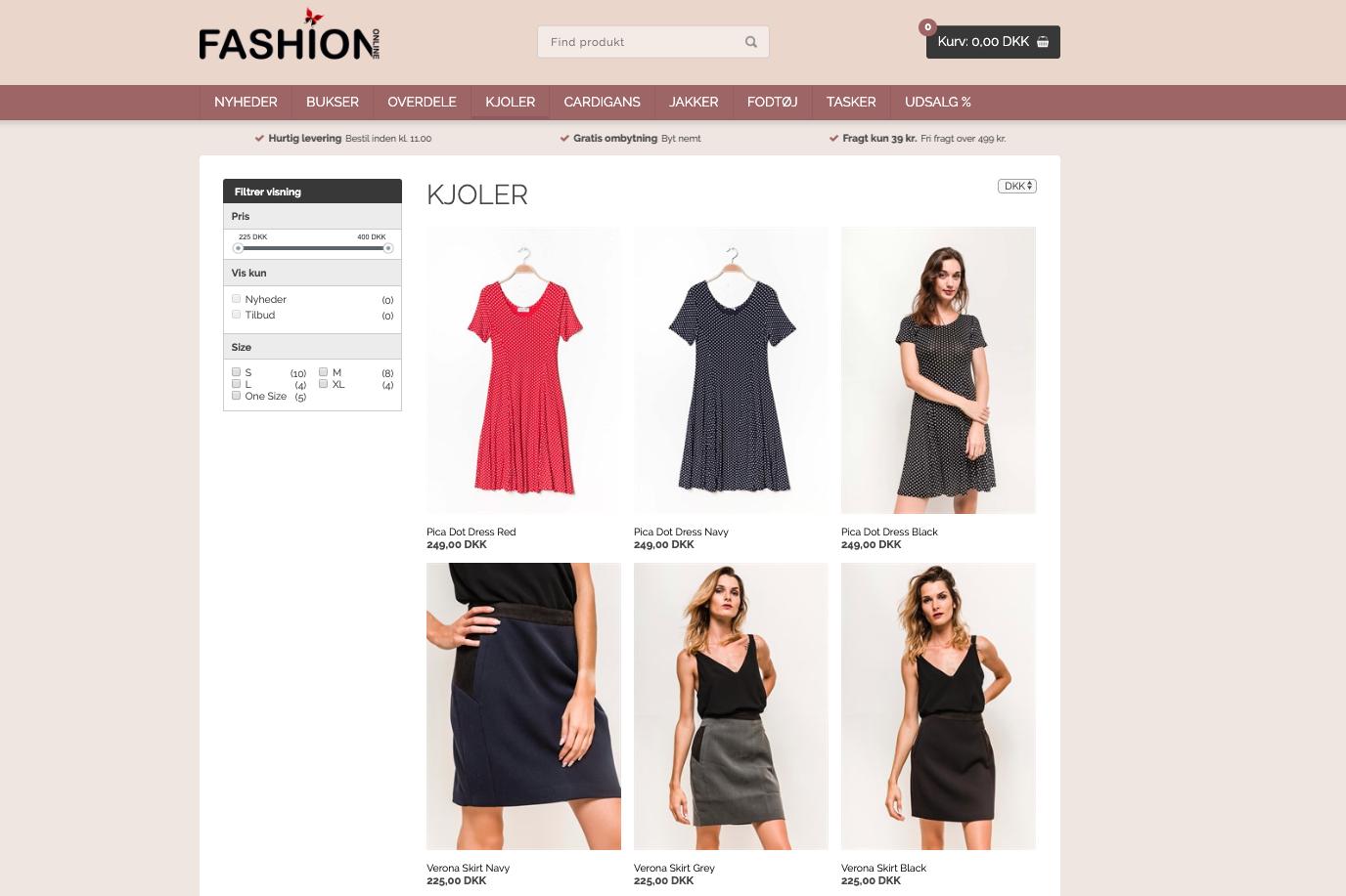 Webshop med kvalitetstøj til den modebevidste kvinde Saxis