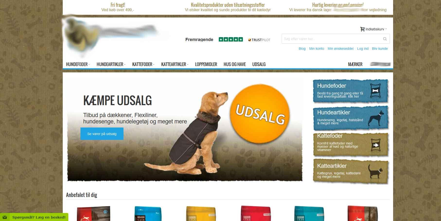 Populær hunde webshop i vækst