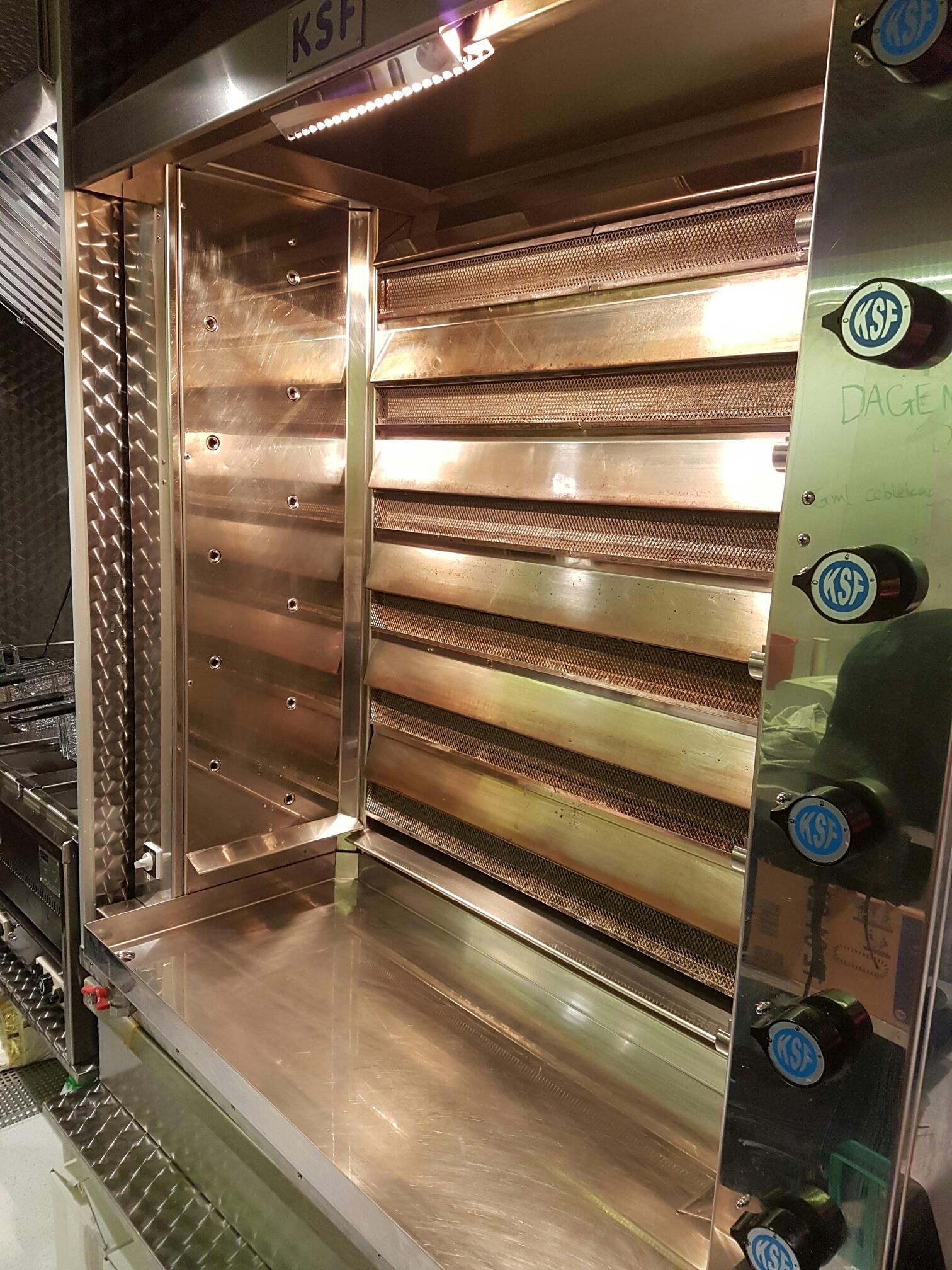 Ubrugte Salgsvogn/madvogn med salg af spydstegte kyllinger CF-16