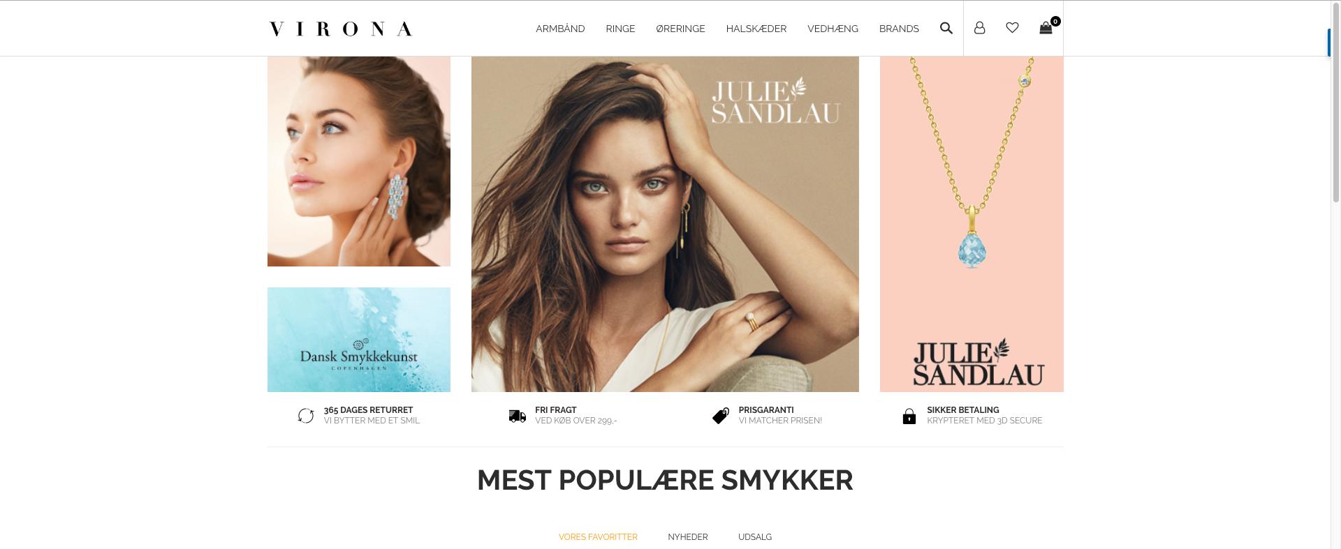 Webshop med salg af smykker - Med omsætning - Eksklusivt og elegant design - Shopify