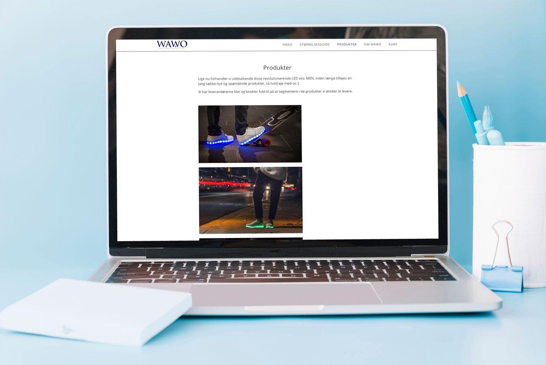 07c9297281f Wawo.dk - Webshop med omsætning til salg. Shoppen sælger sneakers med LED  lys i sålen, og er 100% selvkørende.