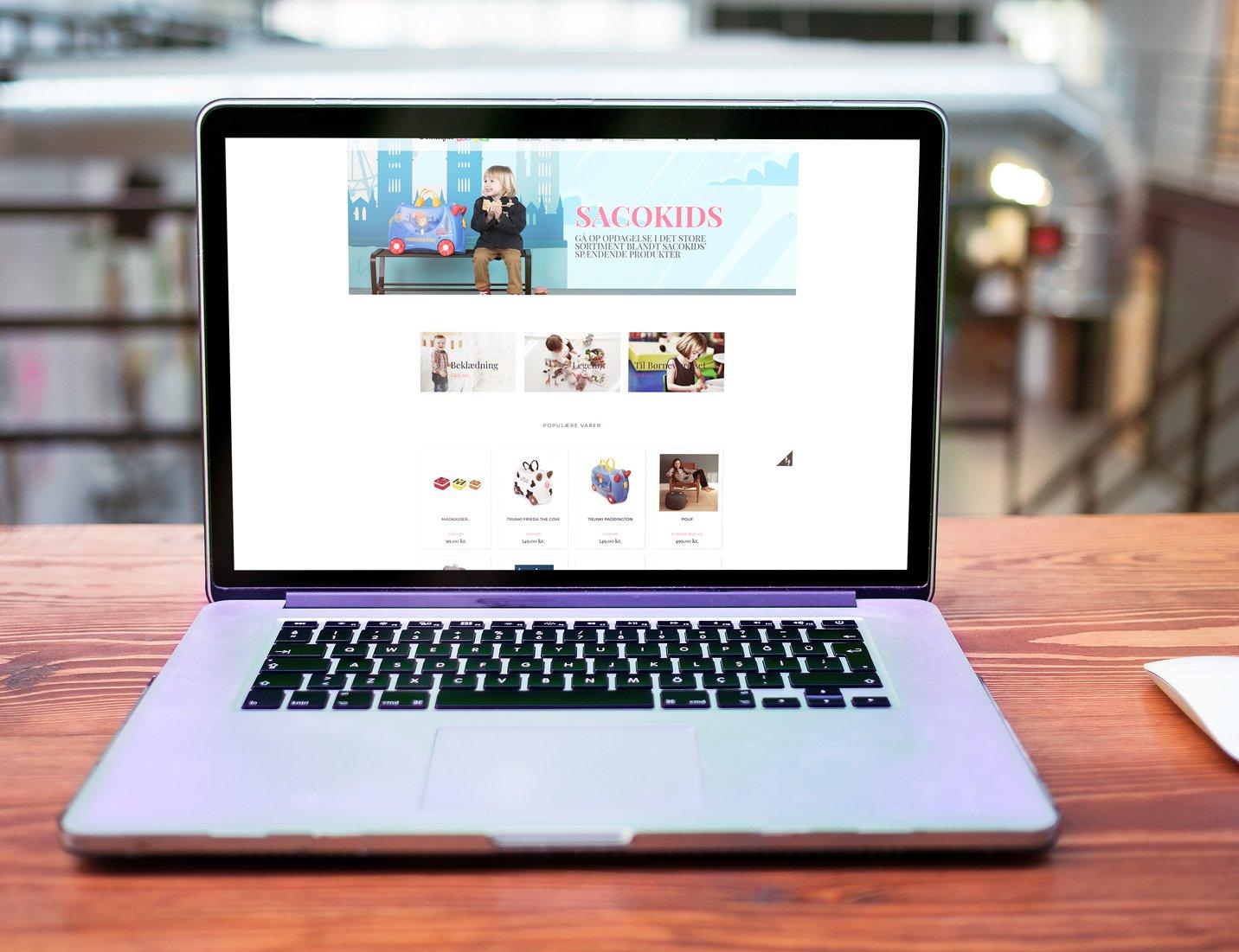 Webshop med salg af børne tøj med fokus på økologi - dropshipping samt lager.