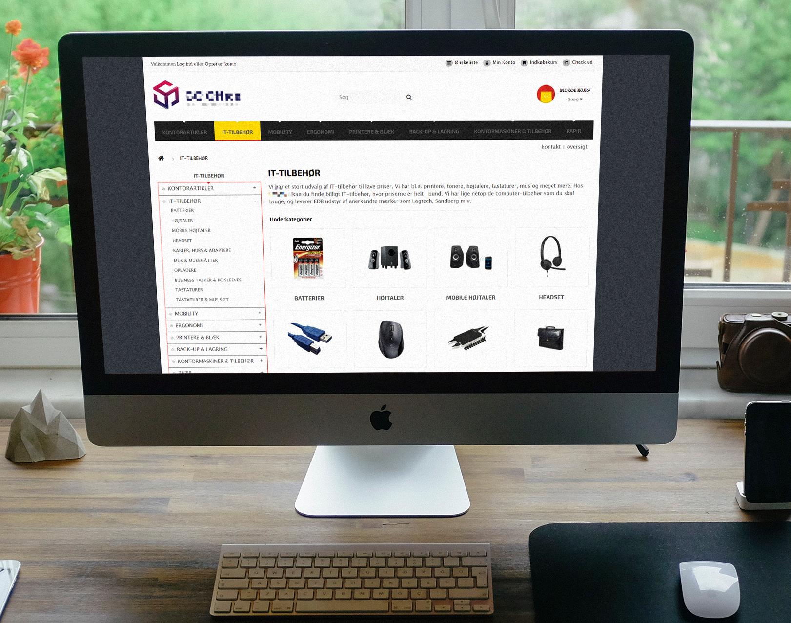 Webshop med salg af kontorartikler - har omsat via organisk resultater inkl. leverandøradgang
